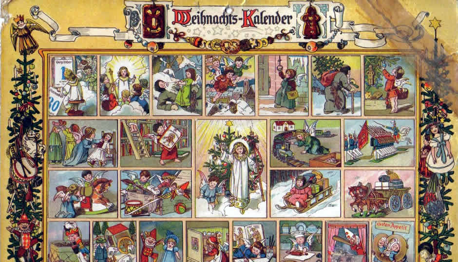 An early Advent calendar.