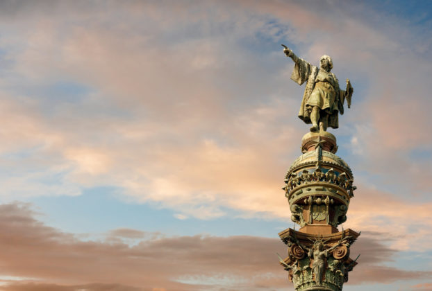 Statue of Columbus in Barcelona