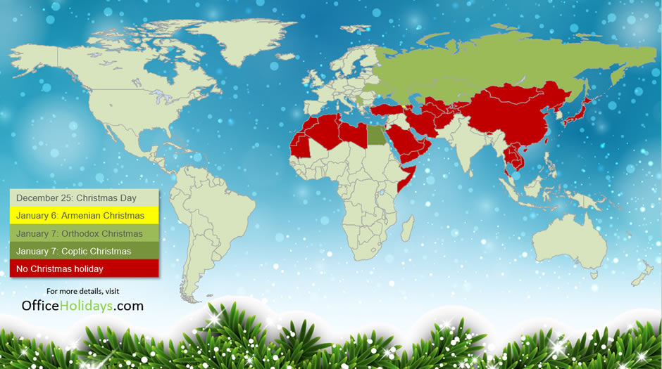 When Is Christmas Observed.Christmas Day Around The World Office Holidays Blog