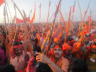 Crowd at Kumbh Mela festival, the world's largest religious gathering, in Allahabad, Uttar Pradesh, India. Photo by Yury Birukov.
