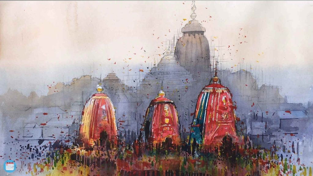 Ratha Yatra Virtual Background