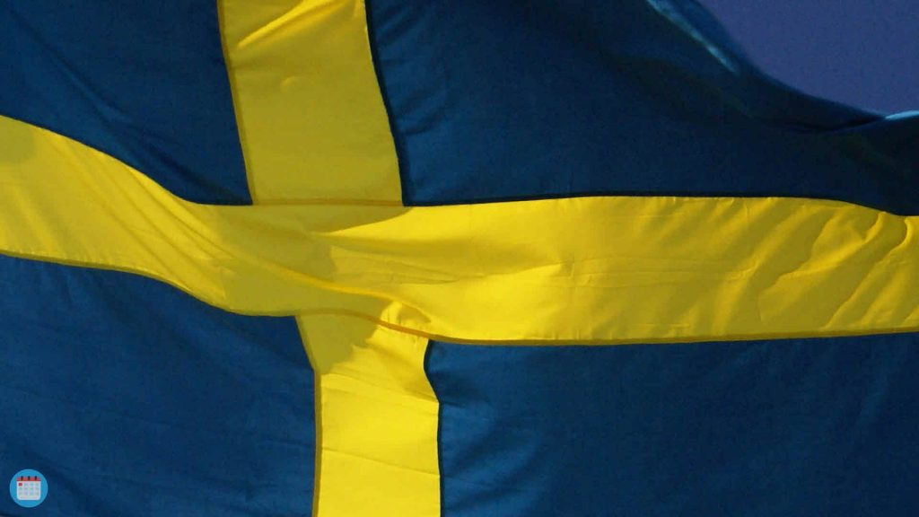 Swedish National Day Virtual Background